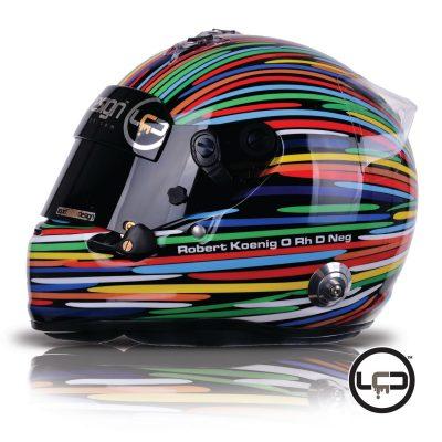Robert E Koeing Arai GP6 Helmet
